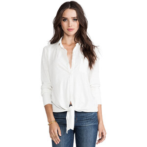 Soft Joie Macyn Front Tie Top in White