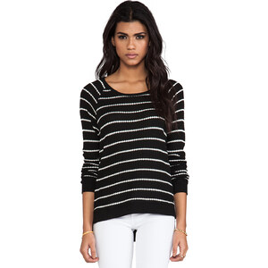 Velvet by Graham & Spencer Velvet Stripe Becky Thermal in Black