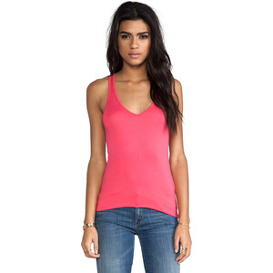 Feel the Piece Terrific V Racer Tank in Pink