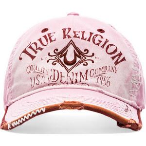True Religion Vintage Logo Baseball Cap in Pink