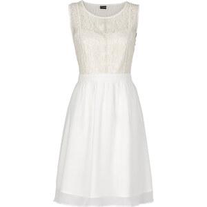 BODYFLIRT Kleid in weiß (Rundhals) von bonprix