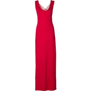 RAINBOW Maxi-Kleid ohne Ärmel in rot (V-Ausschnitt) von bonprix