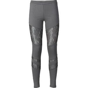RAINBOW Leggings mit Spitze in grau für Damen von bonprix