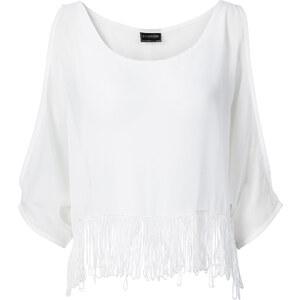 RAINBOW Top halber Arm in weiß (Rundhals) von bonprix