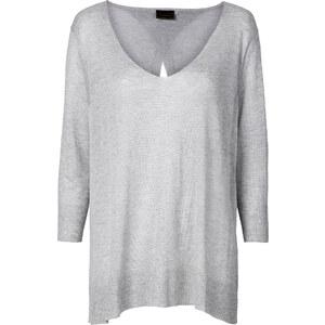 RAINBOW Leichter Pullover 3/4 Arm in grau für Damen von bonprix