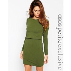 ASOS PETITE - Figurbetontes Kleid mit kurz geschnittenem Oberteil - Marine 20,99 €