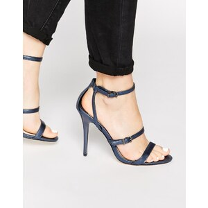 Faith - Litchfield - Marineblaue Absatzsandalen in Metallic-Optik - Marineblau