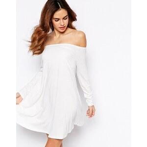 Glamorous - Schulterfreies Swing-Kleid aus Jersey - Cremeweiß