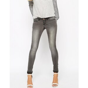 Noisy May - Eve - Schmale Jeans - Grau