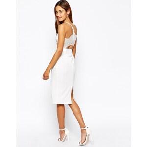Oh My Love - Mittellanges, anliegendes Kleid mit Ausschnitt und Spitze hinten