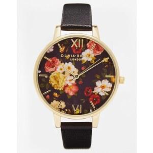 Olivia Burton - Uhr mit Winterblumendesign und großem Zifferblatt - Schwarz