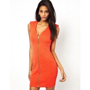 Oh My Love Zip-Up Bodycon Dress
