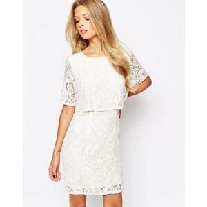 Vila - Kleid mit Spitze - Cremeweiß