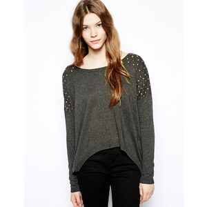 Vero Moda Long Sleeve Top With Embellished Shoulders