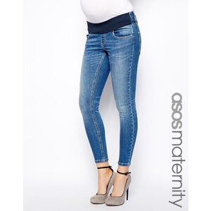 ASOS Maternity Exclusive Luxe Jean Ankle Grazer In Blue Wash