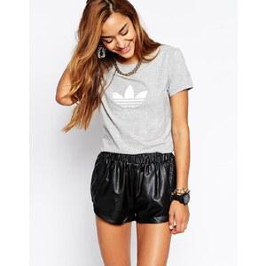 adidas Originals - Trefoil - Schmal geschnittenes T-Shirt - Grau