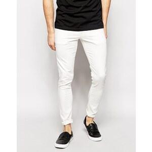 ASOS - Extrem enge Skinny-Jeans in Weiß - Weiß