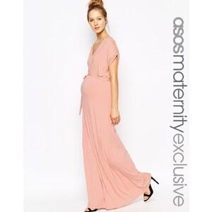 ASOS Maternity - Drapiertes Maxikleid - Rosé 14,49 €