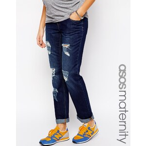ASOS Maternity - Exklusive Boyfriend -Jeans in dunkler Waschung - dunkle Waschung