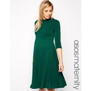 ASOS Maternity - Skaterkleid mit Faltenrock und 3/4-Ärmeln - Blau 20,99 €