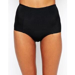 ASOS - Mix and Match - Bas de bikini taille haute - Noir