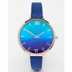 ASOS - Uhr mit großem Zifferblatt mit Ombré-Effekt - Blau