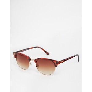 ASOS - Ovale, klassische Retro-Sonnenbrille - Braun