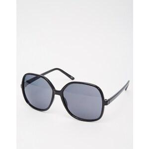 ASOS - Lunettes de soleil oversize 70's - Noir