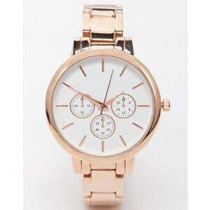 ASOS - Schlichte Boyfriend-Uhr mit schmalem Armband - Rosévergoldete