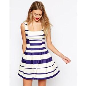 ASOS - Gestreiftes Debütantinnen-Kleid