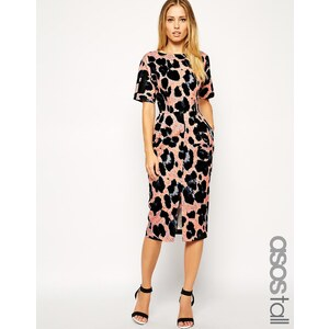 ASOS TALL - Wiggle - Kleid mit Animal-Print