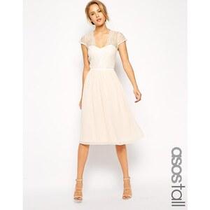 ASOS TALL - Mittellanges Kleid mit Muschelsaum