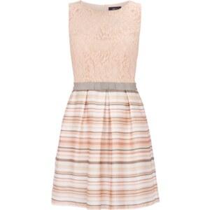 Jake*s Kleid mit Spitze und Streifenmuster