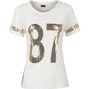 BODYFLIRT Shirt in weiß (Rundhals) für Damen von bonprix