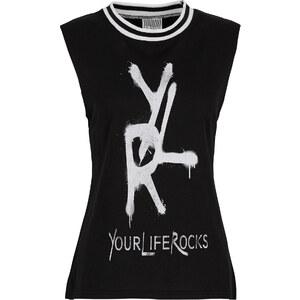 RAINBOW Shirt mit Buchstaben-Print in schwarz für Damen von bonprix