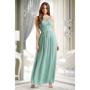 Little Mistress 50s Cinderella Embellished Detail Maxi Dress in Mint