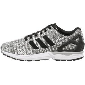 adidas Originals ZX FLUX WEAVE Sneaker white/core black/solid grey