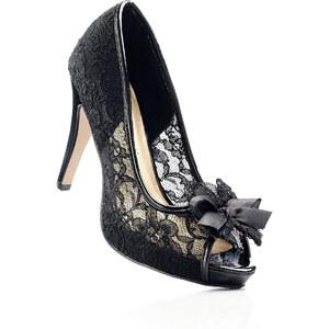 bpc selection premium Escarpins peep-toe noir avec 11 cm haut talonchaussures & accessoires - bonprix
