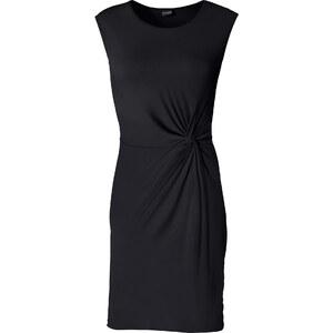 BODYFLIRT Robe matière T-shirt noir sans manches femme - bonprix