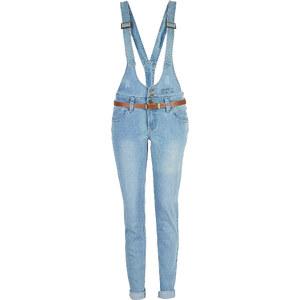 RAINBOW Jean avec bretelles bleu femme - bonprix