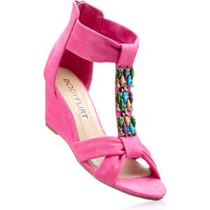 BODYFLIRT Les sandales compensées fuchsia avec 6 cm talon compenséchaussures & accessoires - bonprix