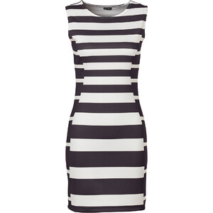 BODYFLIRT Mini-robe noire sans manches femme - bonprix