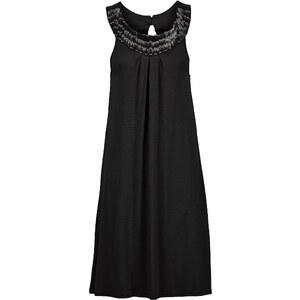 BODYFLIRT Robe noire sans manches femme - bonprix