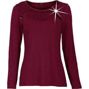 BODYFLIRT T-shirt rouge manches longues Flatteur femme - bonprix