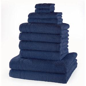 bpc living Serviettes de toilette New Uni (Ens. 10 pces.) bleu maison - bonprix