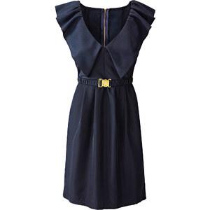 BODYFLIRT Robe bleu sans manches Flatteur femme - bonprix
