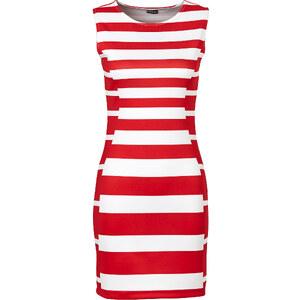 BODYFLIRT Mini-robe rouge sans manches femme - bonprix