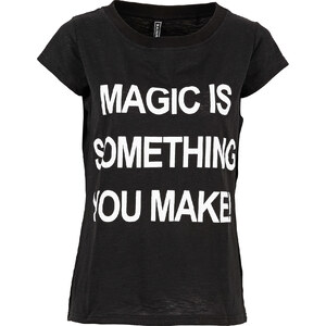 RAINBOW T-shirt imprimé noir manches courtes femme - bonprix