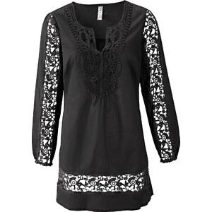 RAINBOW Tunique noir manches longues femme - bonprix