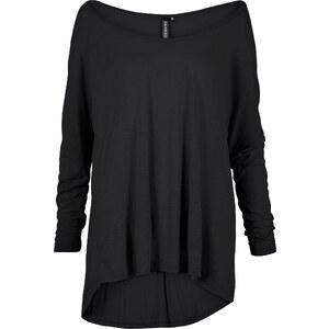 RAINBOW T-shirt oversize avec rivets noir manches 7/8 femme - bonprix